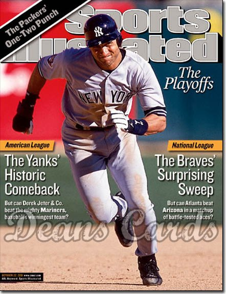 2001 Sports Illustrated   October 22  -  Derek Jeter NY Yankees