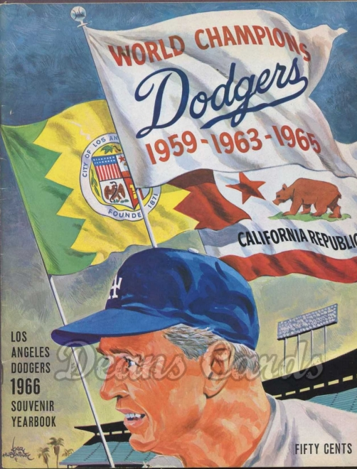 1966 Los Angeles Dodgers Yearbook - Walter Alston
