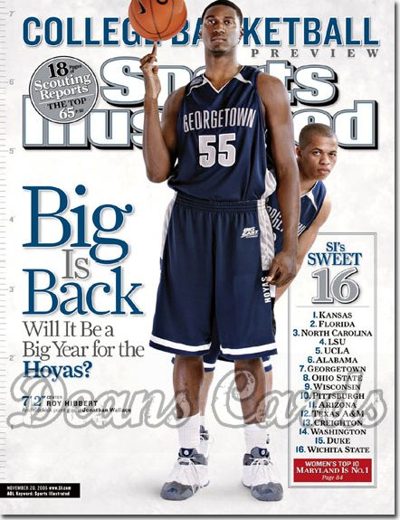 2006 Sports Illustrated   November 20  -  Roy Hibbert Jonathan Wallace Georgetown Hoya