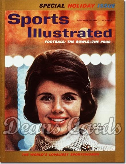 1961 Sports Illustrated - With Label   December 25  -  Francine Breaud (Skiing / Skier)
