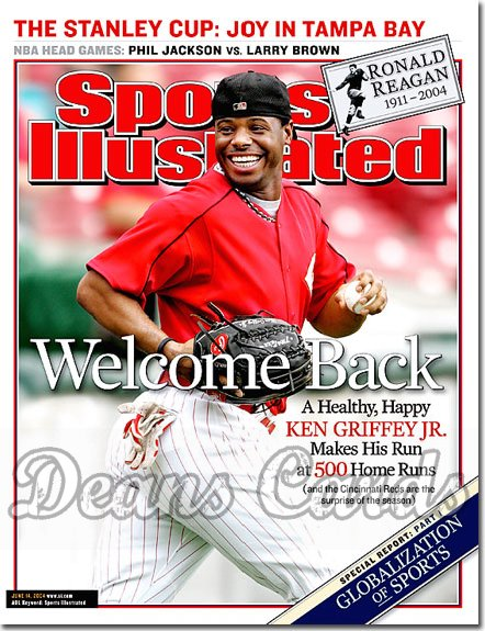 2004 Sports Illustrated   June 14  -  Ken Griffey Jr Cincinnati Reds