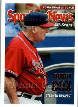 2005 Topps Update #172   -  Bobby Cox All-Star