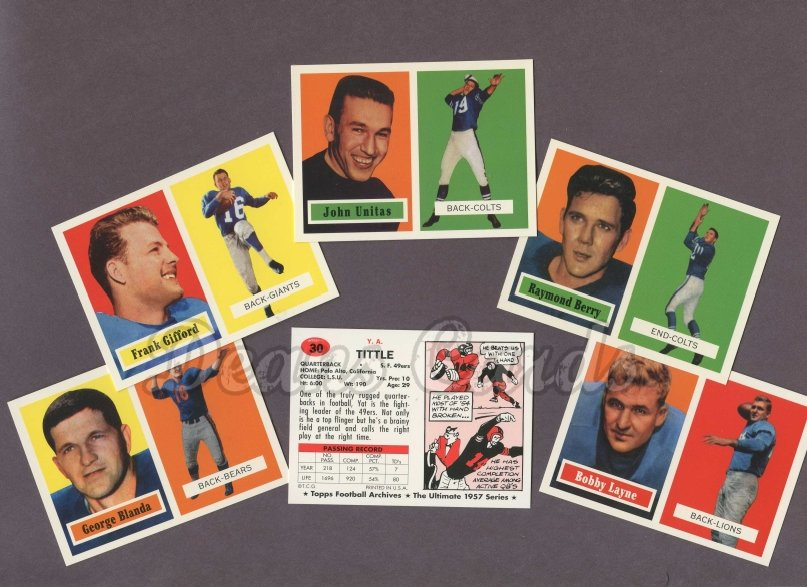 1957 Topps Archives    Topps Football Archives Complete Set