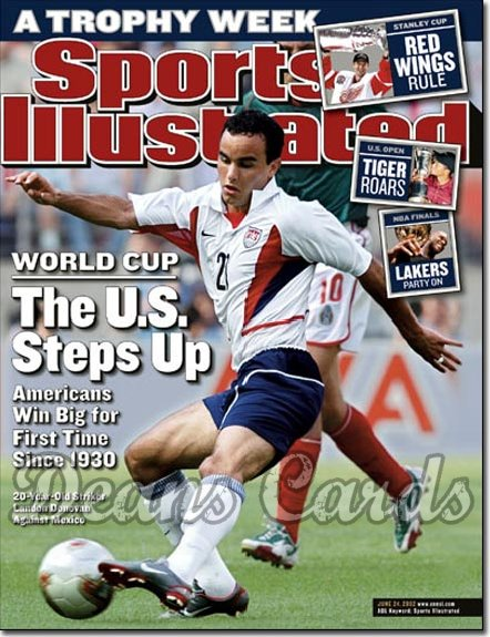 2002 Sports Illustrated - With Label   June 24  -  Landon Donovan USA Soccer