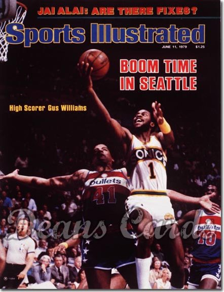 1979 Sports Illustrated - With Label   June 11  -  Gus Williams (Seattle Super Sonics)