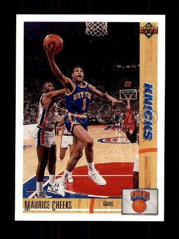 1991 Upper Deck #281  Maurice Cheeks