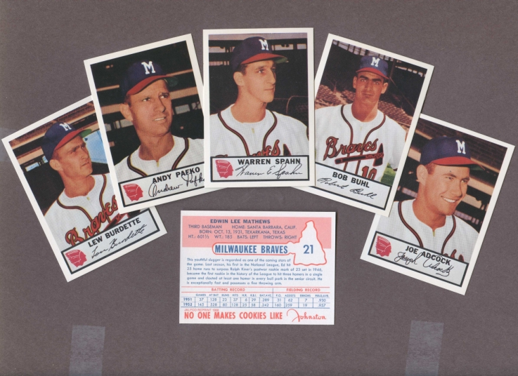 1953 Johnston Cookies Reprint    Braves  Complete Set