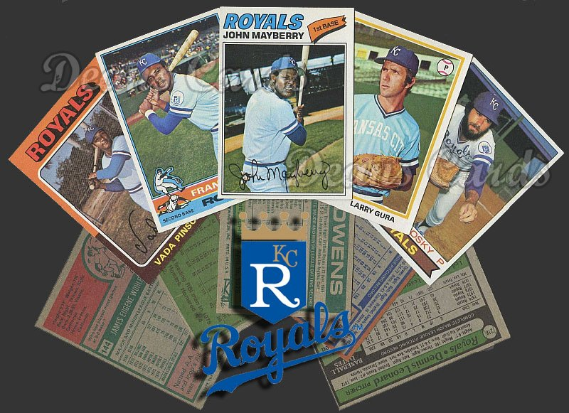 1975 Topps   -79  Kansas City Royals Team Starter Set / Lot - Md