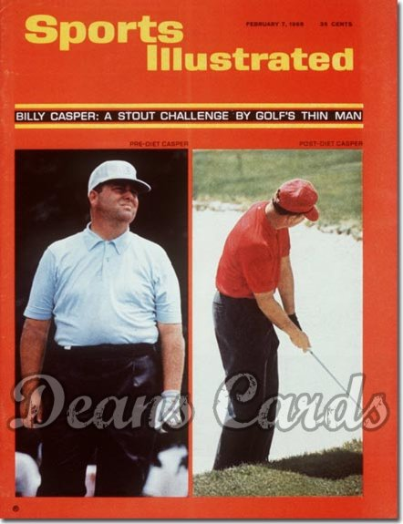 1966 Sports Illustrated - With Label   February 7  -  Billy Casper