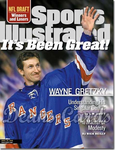 1999 Sports Illustrated - With Label   April 26  -  Wayne Gretzky (NY Rangers)