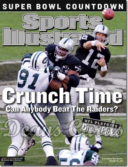 2003 Sports Illustrated - No Label   January 20  -  Rich Gannon & Mo Collins (Raiders) Josh Evans (Jets)