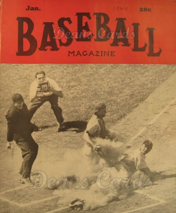 1944 Baseball Magazine    January