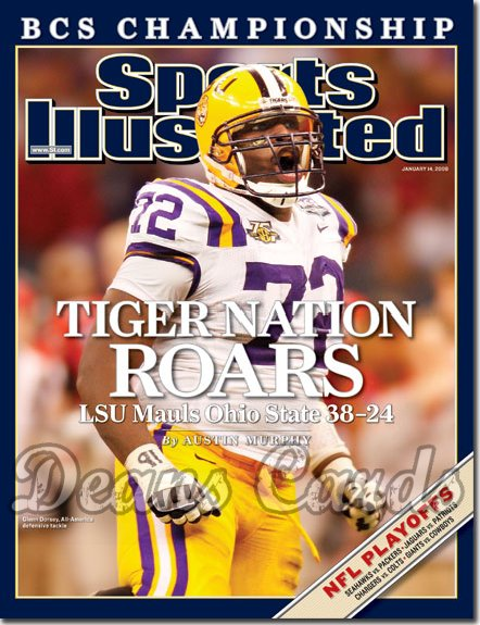 2008 Sports Illustrated - With Label   January 14  -  Glenn Dorsey LSU Tigers Football