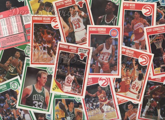 1989 Fleer   -90  Basketball Complete Set