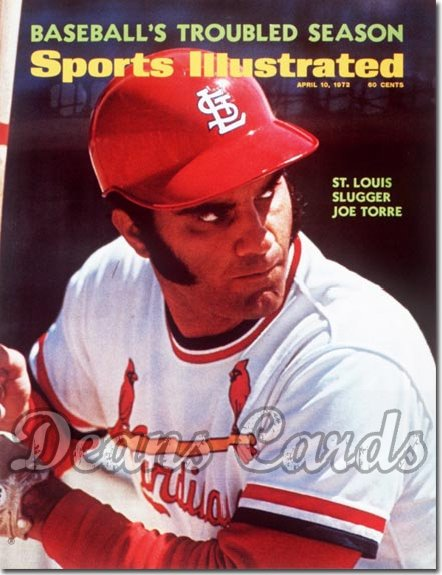 1972 Sports Illustrated - With Label   April 10  -  Joe Torre (St. Louis Cardinals) Baseball Issue