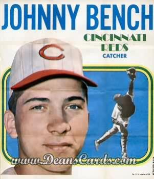 1970 Topps Poster Inserts #11  Johnny Bench
