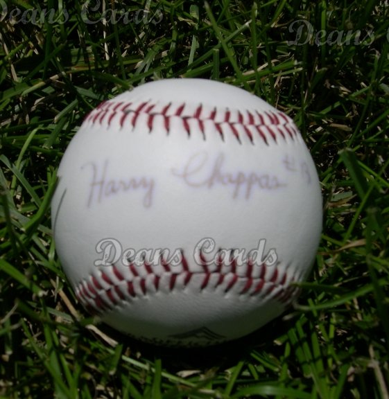 Harry Chappas (White Sox)  Autographed Ball