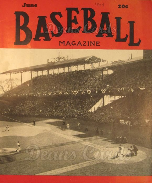 1949 Baseball Magazine    June