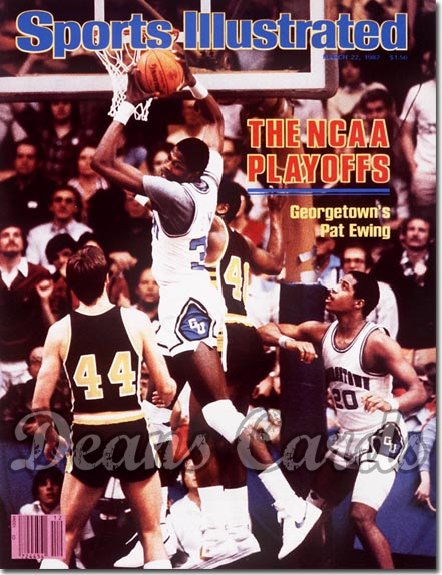 1982 Sports Illustrated - With Label   March 22  -  Patrick Ewing (Georgetown Hoyas)