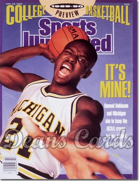1989 Sports Illustrated - With Label   November 20  -  Rumeal Robinson (Michigan Wolverines)