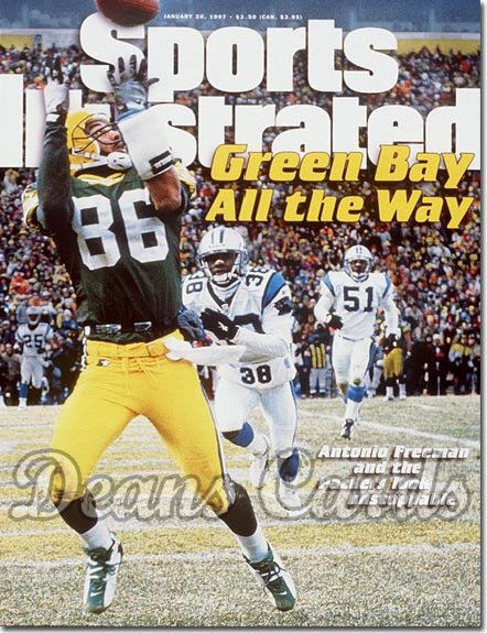 1997 Sports Illustrated - With Label   January 20  -  Antonio Freeman (Green Bay Packers)