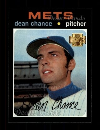 2001 Topps Archives #349   -  Dean Chance 71 Topps