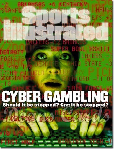 1998 Sports Illustrated - With Label   January 26  -  Cyber Gambling