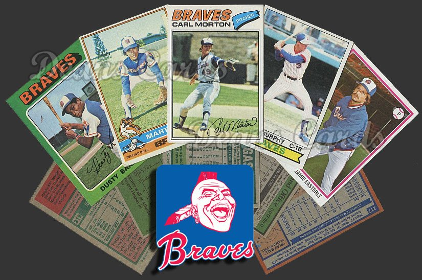 1975 Topps   -79  Atlanta Braves Team Starter Set / Lot - Md