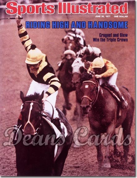 1977 Sports Illustrated - With Label   June 20  -  Seattle Slew/Jean Cruguet (Jockey)