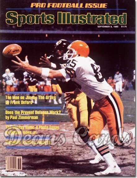 1980 Sports Illustrated - With Label   September 8  -  Dave Logan & Mel Blount Browns & Steelers