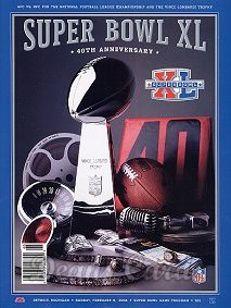 2006 Super Bowl XL Program - Pittsburgh vs. Seattle