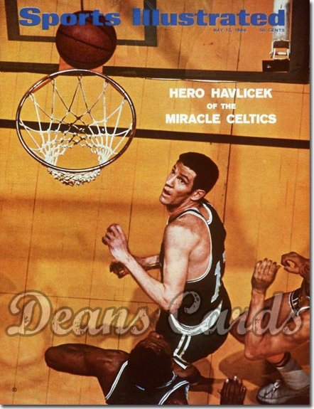 1969 Sports Illustrated - With Label   May 12  -  John Havlicek (Boston Celtics)