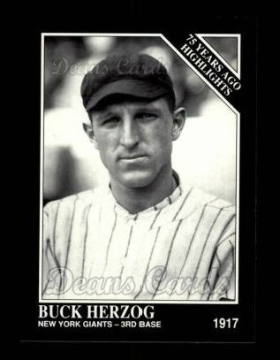 1992 Conlon #489   -  Buck Herzog 1917 Highlights