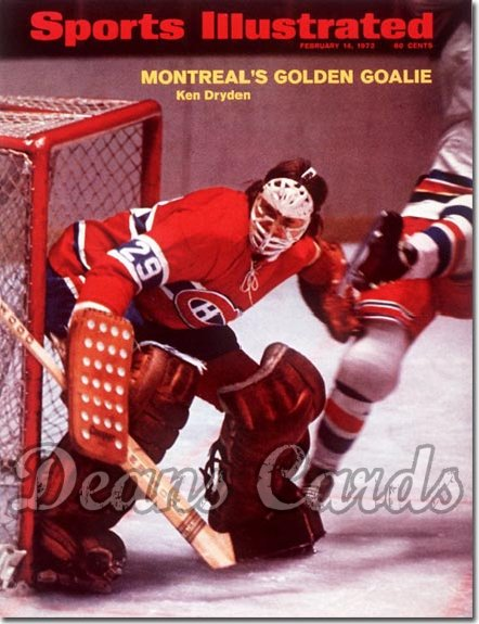 1972 Sports Illustrated - With Label   February 14  -  Ken Dryden (Montreal Canadiens)