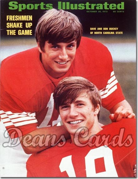 1972 Sports Illustrated - With Label   October 30  -  Don & Dave Buckey (NCState Wolfpack)