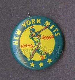 1965 Guys Potato Chip Pin #14   New York Mets