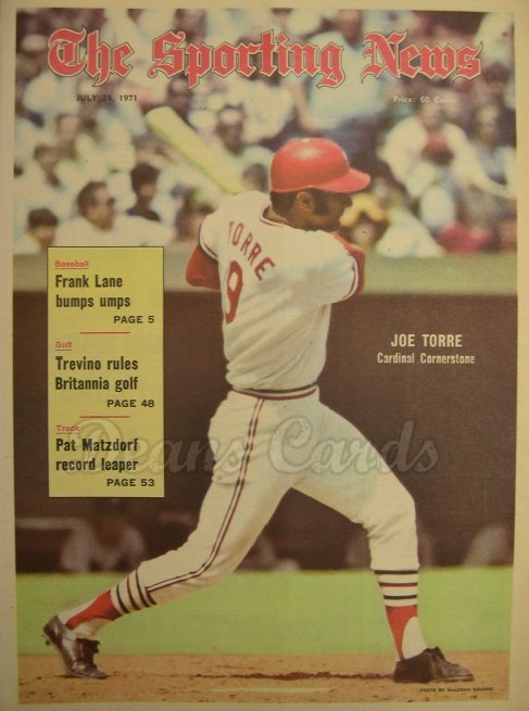 1971 The Sporting News   July 24  - Joe Torre / Roy Campanella