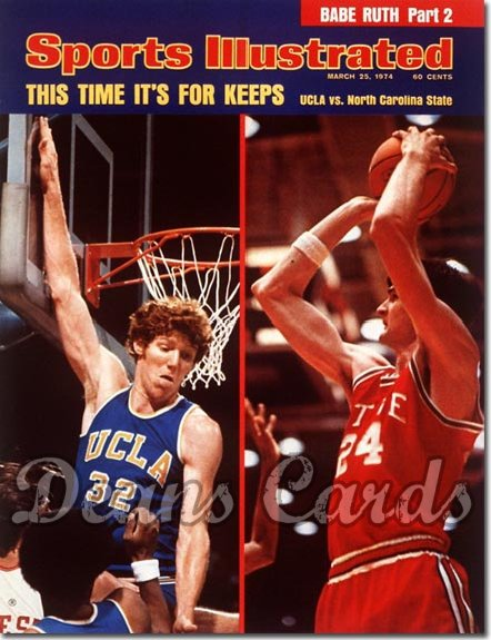1974 Sports Illustrated - With Label   March 25  -  Bill Walton & Tom Burleson (UCLA v NC State)