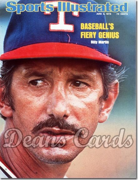 1975 Sports Illustrated - With Label   June 2  -  Billy Martin (Texas Rangers)