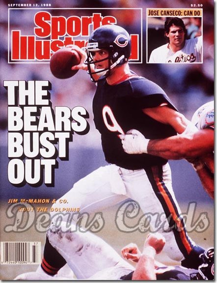 1988 Sports Illustrated - With Label   September 12  -  Jim Mc Mahon (Chicago Bears