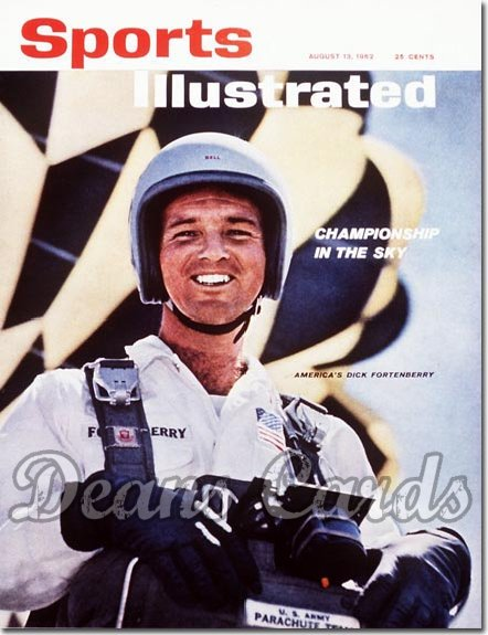 1962 Sports Illustrated - With Label   August 13  -  Dick Fortenberry (Skydiving)