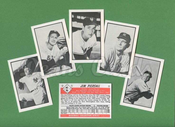 1953 Bowman REPRINT    Bowman Black and White Reprint Complete Set