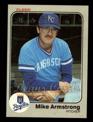 1983 Fleer #105  Mike Armstrong