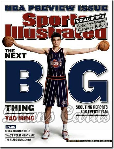 2002 Sports Illustrated   October 28  -  Yao Ming Houston Rockets