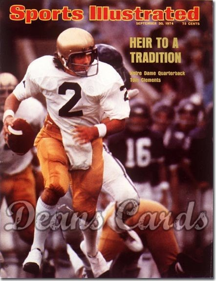 1974 Sports Illustrated - With Label   September 30  -  Tom Clements (Notre Dame Fighting Irish)