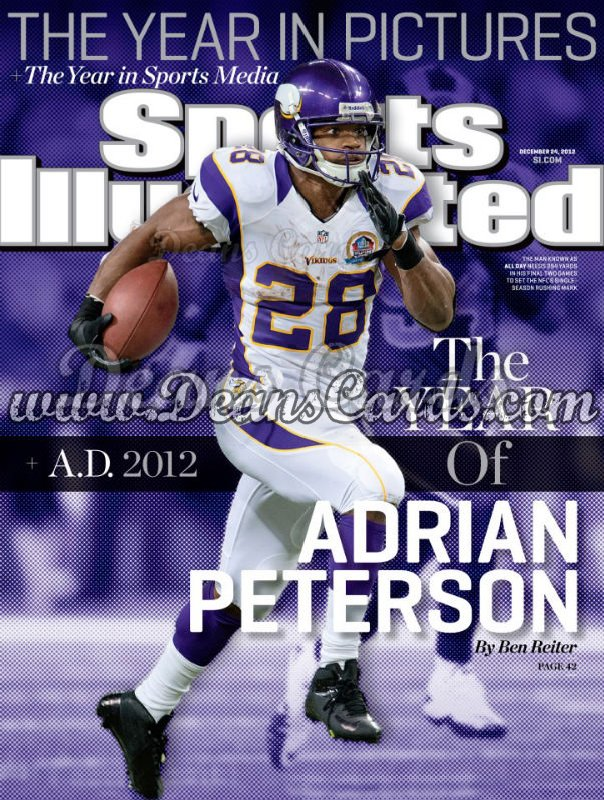 2012 Sports Illustrated   December 24  -  Adrian Peterson / Minnesota Vikings / A.D.