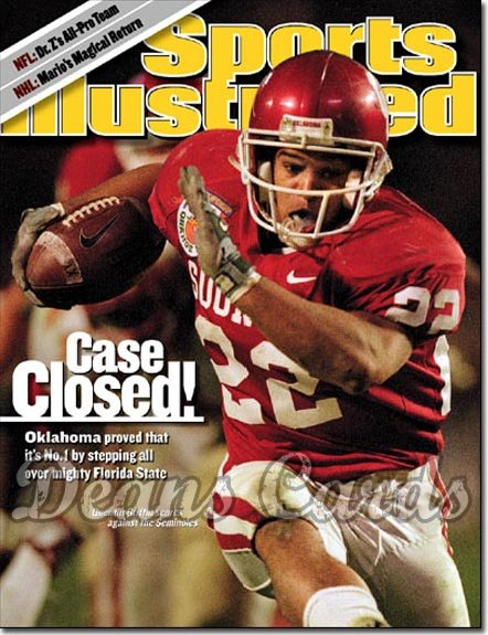 2001 Sports Illustrated - With Label   January 8  -  Quentin Griffin Oklahoma Sooners
