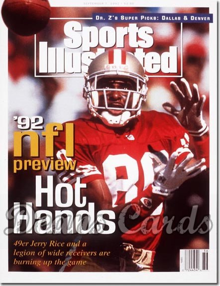 1992 Sports Illustrated - With Label   September 7  -  Jerry Rice (SF 49ers) Pro Football Issue