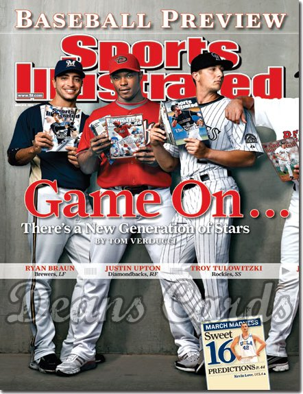 2008 Sports Illustrated   March 31  -  Ryan Braun