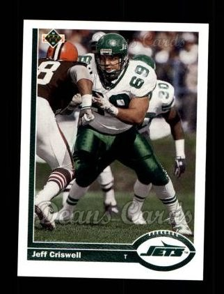 1991 Upper Deck #689  Jeff Criswell